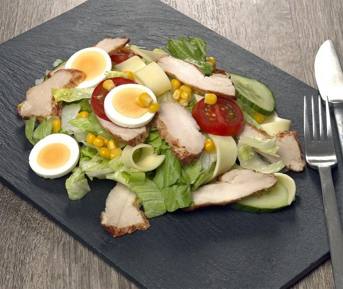 Haehnchen-Salat-mit-Filetstreifen
