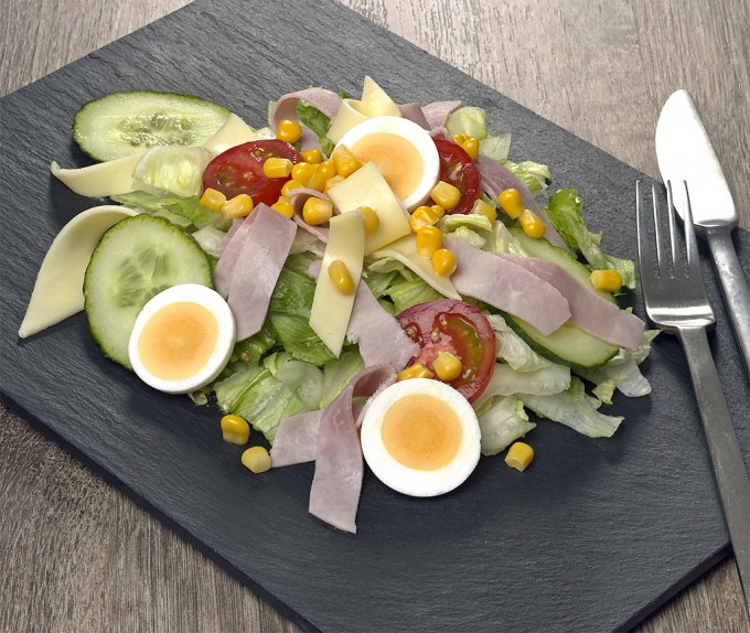 Kaese-Schinken-Salat